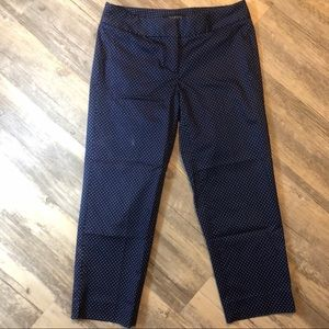 Talbots Polka Dot Cropped Pants